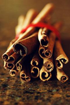 cinnamon sticks on a quartz countertop